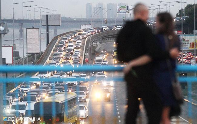Фото: пробки в Киеве (РБК-Украина)