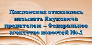 Поклонская отказалась называть Януковича предателем — Федеральное агентство новостей No.1
