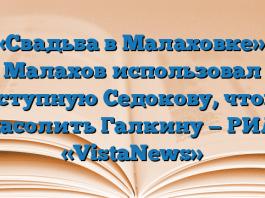 «Свадьба в Малаховке»: Малахов использовал доступную Седокову, чтобы насолить Галкину — РИА «VistaNews»