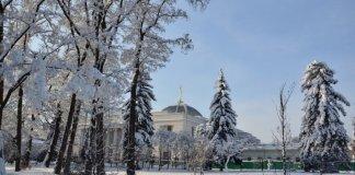 Засыпанный снегом Киев сняли с высоты птичьего полета: потрясающие фото - Fakty.ua