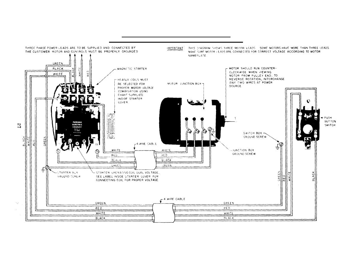 Three Phase Starter Diagram