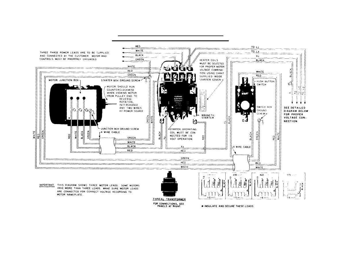 3 Phase Magnetic Starter Wiring