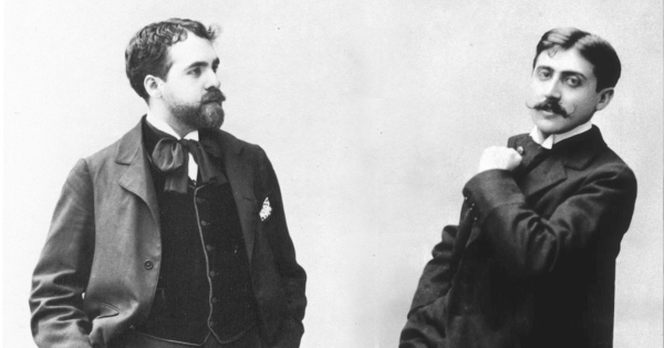 The young Reynaldo Hahn (l.) and his lover Marcel Proust