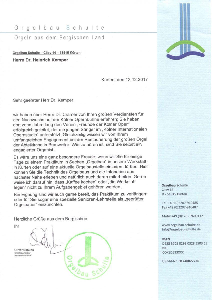 Gutschein für Herrn Schulte-Kemper