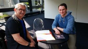 Lucian Krasznec im Gespräch mit Detlef Obens (DAS OPERNMAGAZIN) Foto@Basia Kuznik