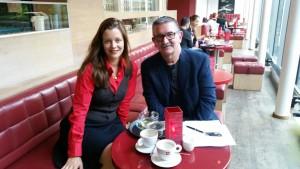 Eleonore Marguerre und Detlef Obens (DAS OPERNMAGAZIN) im Gespräch - Foto@ Basia Kuznik