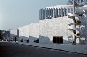 Stadttheater Münster (Seitenansicht), um 1956 © Erwin Schwarzer (Wiesbaden), Städtische Bühnen Münster