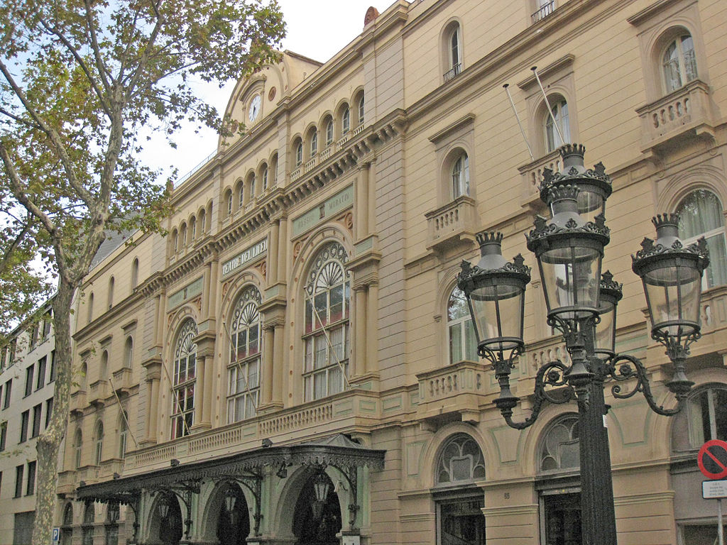 El Gran Teatre del Liceu, a la Rambla de Barcelona / Foto @ Quelle: Eigenes Werk Urheber: Enfo (Wikipedia)
