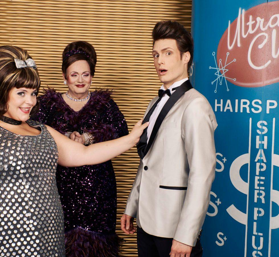 Oper Dortmund/ HAIRSPRAY/ Marja Hennicke, Hannes Brock und Jörn Felix Alt /Foto @ Thomas Jauk