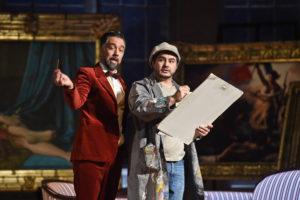Deutsche Oper am Rhein/Don Pasquale/ Günes Gürle (Don Pasquale), Ibrahim Yesilay (Ernesto) FOTO: Hans Jörg Michel