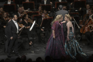 Camarena-Damrau-Kurucov/ Maria Stuarda, Konzertante Premiere am 28. Mai 2018 in der Deutschen Oper Berlin, copyright: Bettina Stöss