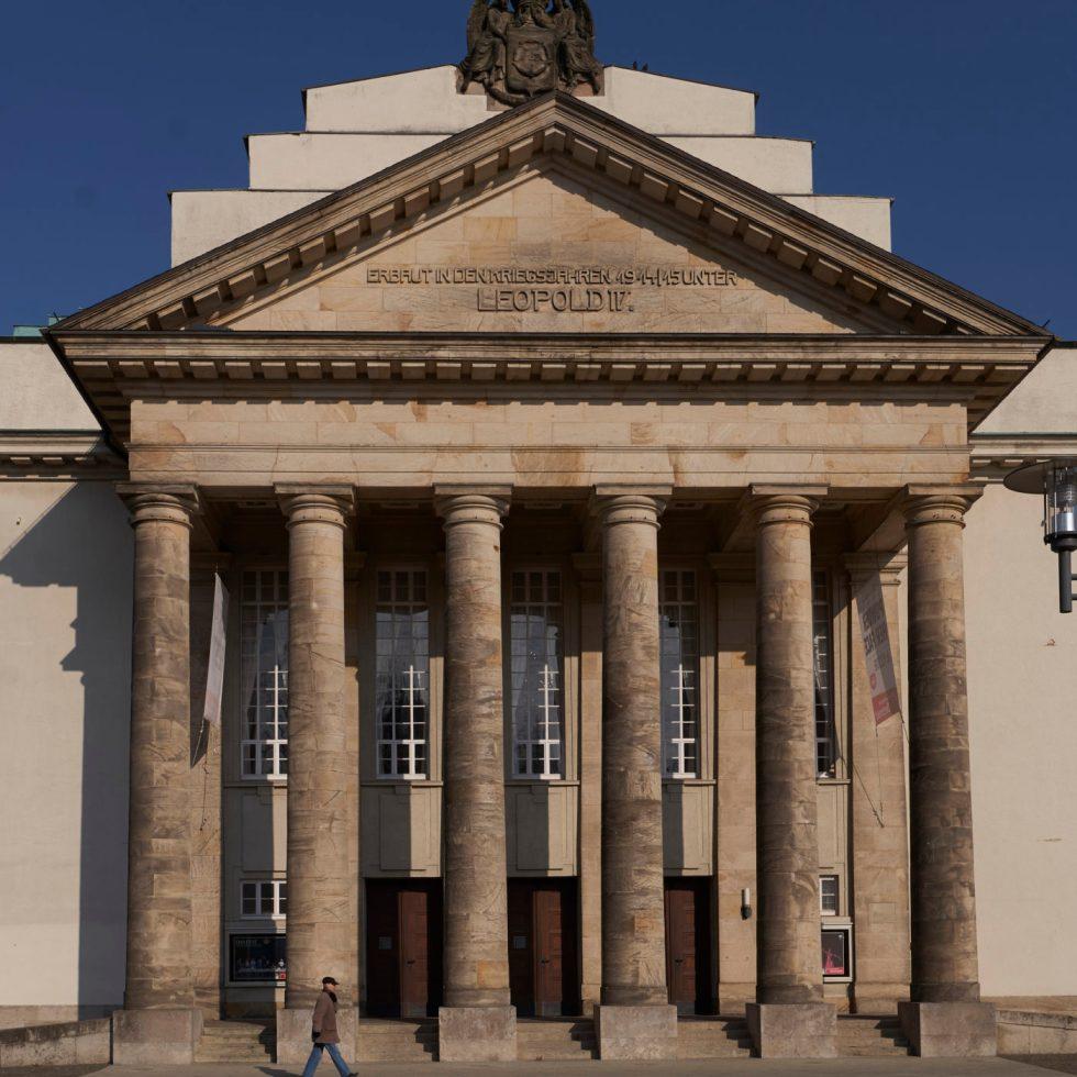Landestheater Detmold/ Außenansicht/ Foto @ A.T.Schäfer