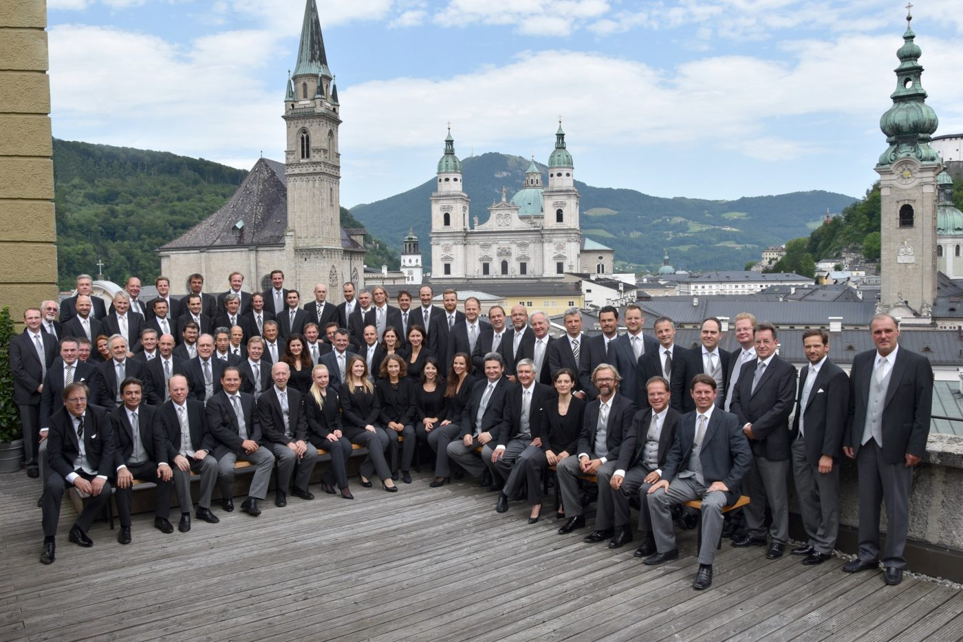 Wiener Philharmoniker über den Dächern von Salzburg / Foto @ Anne Zeuner