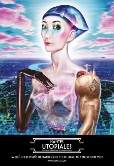 Affiche du festival des Utopiales, édition 2018.