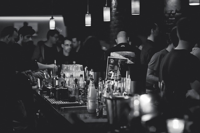 Photo d'un bar.