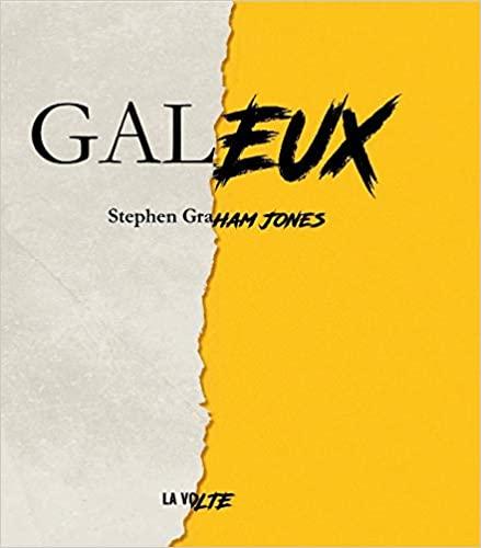 Couverture du roman en version française, moitié papier déchiré, moitié fond jaune brutal sur lequel le titre change de police et se démarque comme un tag.