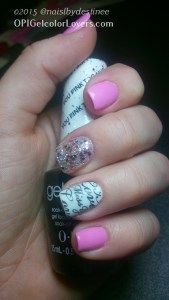 OPI You pink too Much, APline Snow, Strawberry margarita (mixed with apline snow)