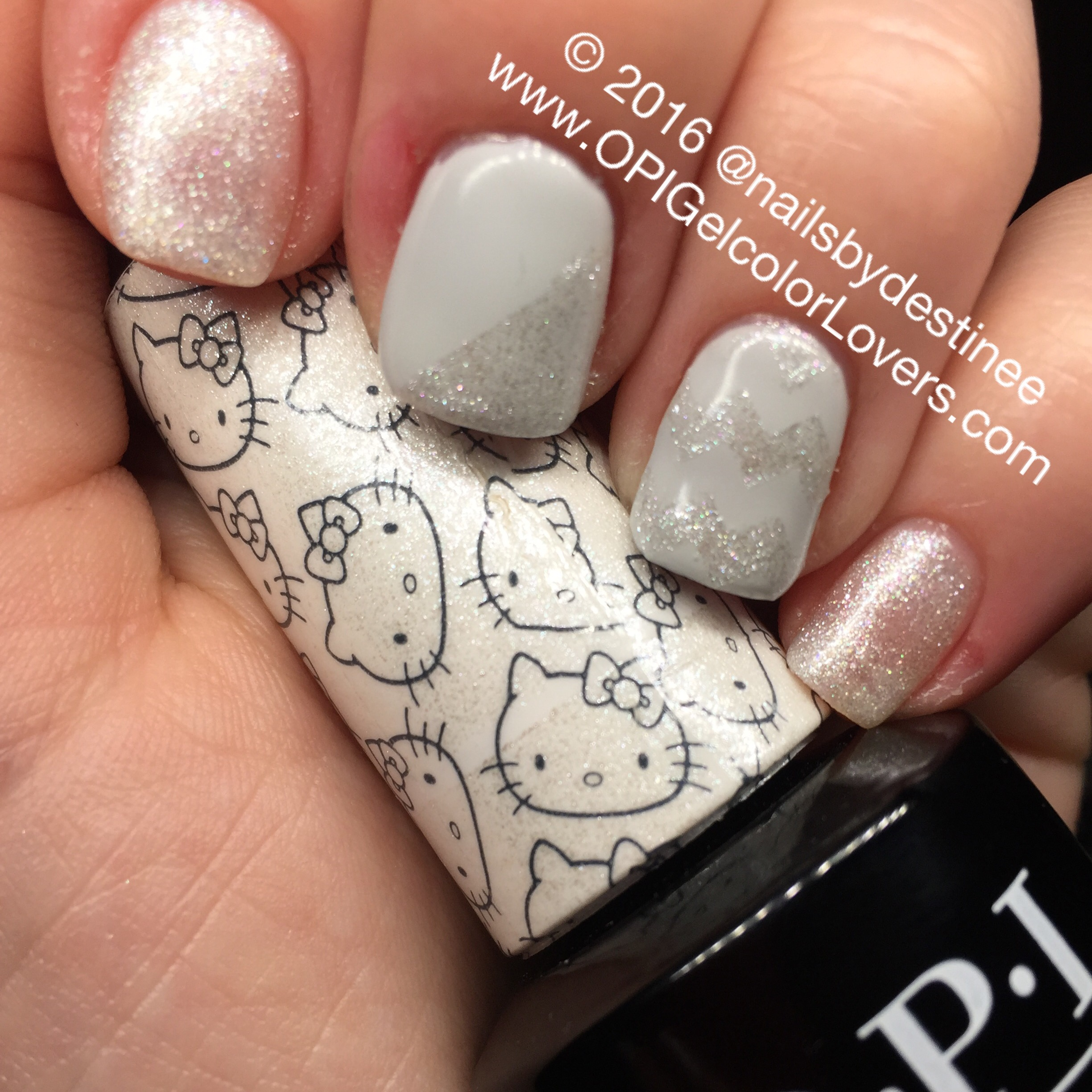 Opi Gelcolor Lovers Manicure Monday Kitty White Amp I