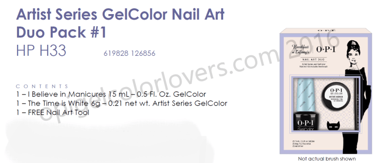 Artist Series Gelcolor nail art duo pack #1