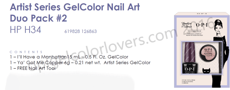 Artist Series Gelcolor nail art duo pack #2