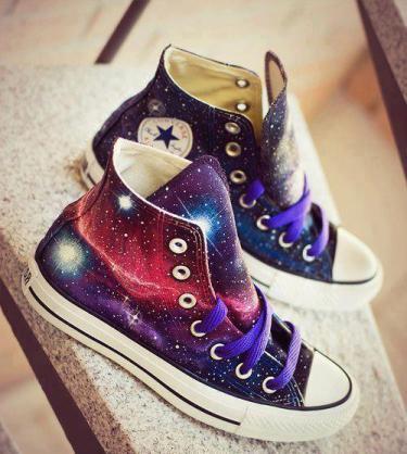 Galactic print shoes