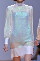 Holographic sky dress