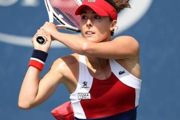 Alizé Cornet lors de l'US Open en 2018