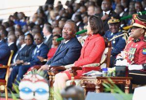 Ali Bongo, lors de la célébration de l'indépendance du Gabon, le 17 août 2019