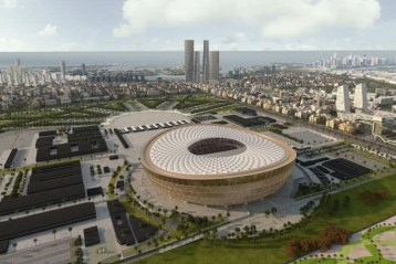 L'un des stades pour la Coupe du monde de football au Qatar en 2022.