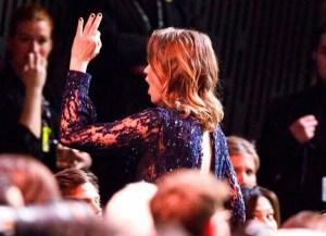 L'actrice Adèle Haenel quittant la salle Pleyel, lors de la cérémonie des 45e Cesar.