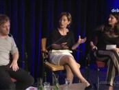 Discussie met Vrij Links initiatiefnemers Eddy Terstall en Keklik Yucel tijdens debatavond De Balie