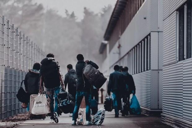 Asielzoekers in opvangcentrum