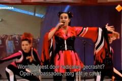 Persiflage Eurovisie Songfestival winnares Netta Barzilai in de Sanne Wallis de Show, BNNVARA