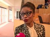 BIJ1-fractielid Sylvana Simons in de Amsterdamse Gemeenteraad