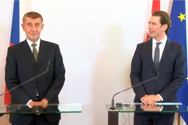 Tsjechische premier Babiš en Oostenrijkse Kanzler Kurz