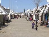 Syrisch vluchtelingenkamp in Turkije.
