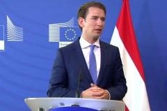 De realo-rechtse Oostenrijkse Bundeskanzler Sebastian Kurz