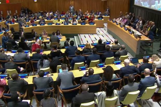 VN-vergadering over Global Impact Migration (13 juli. 2018)