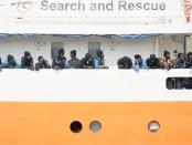 NGO-boot Aquarius met Afrikaanse migranten.