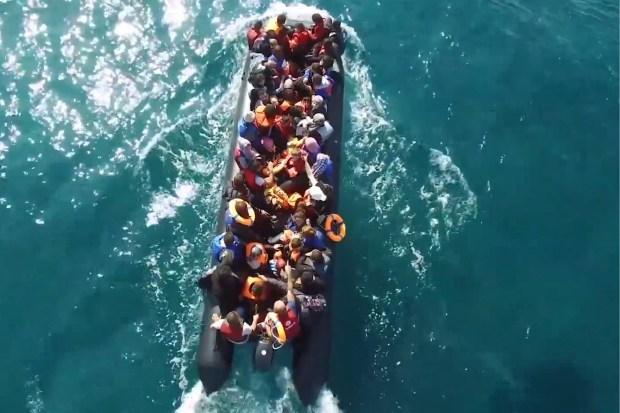 Migranten uit Midden-Afrika onderweg naar Europa