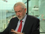 Labour-leider Jeremy Corbyn tijdens een interview op Channel 4 (25 september 2018).