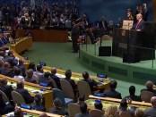 President Trump spreekt de 73e Algemene Vergadering van de Verenigde Naties toe (25 september 2018).