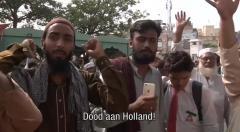 Pakistaanse moslims protesteren tegen cartoonwedstrijd Wilders