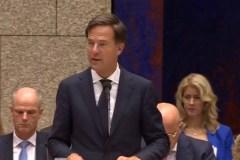 Premier Rutte tijdens de Algemene Politieke Beschouwingen (21 september 2018).
