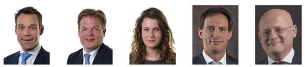Conservatieve realisten CDA: Martijn van Helvert, Pieter Omtzigt, Anne Kuik, Wopke Hoekstra en Ferd Grapperhaus. Bron: Tweede Kamer en rijksoverheid.nl.