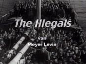 boot met Joodse migranten op weg naar Britse mandaatgebied Palestina (1947). Scène uit The Illegals.