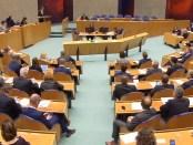 Tweede Kamer tijdens de stemming over de Klimaatwet