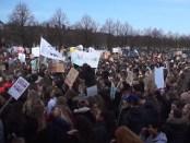 Klimaatspijbelende scholieren op het Malieveld in Den Haag (7 februari 2019)