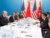 President Trump and President Xi Jinping op de G20 (juli 2017)