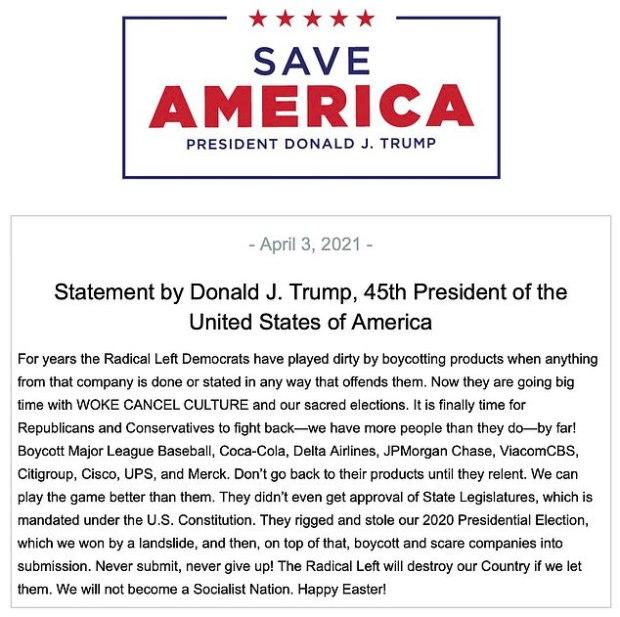 OpinieZ, Donald Trump, Woke, Cancel Culture